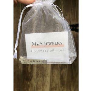 Jewelry - Name/word custom metal stamped handmade necklace